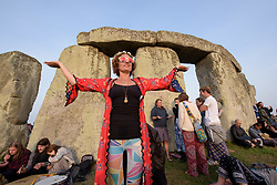 June 21, 2017 - Amesbury, Wiltshire, UK - Stonehenge, Amesbury, Wiltshire, UK. Tania at the Summer Solstice celebrations at Stonehenge on the longest day of the year. (Credit Image: © Simon Chapman/London News Pictures via ZUMA Wire)