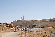 Israel, Golan Heights, Mount Hermon in Summer The Israeli early warning station overlooking Syria