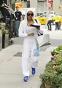 Sept. 9, 2014 - New York City, NY, United States - <br /> <br /> Mel B in White tracksuit<br /> <br /> TV personaility Mel B leaves a downtown hotel on September 9 2014 in New York City<br /> ©Exclusivepix