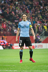 November 10, 2017 - Warsaw, Poland - Edinson Cavani during the international friendly soccer match between Poland and Uruguay at the PGE National Stadium in Warsaw, Poland on 10 November 2017  (Credit Image: © Mateusz Wlodarczyk/NurPhoto via ZUMA Press)