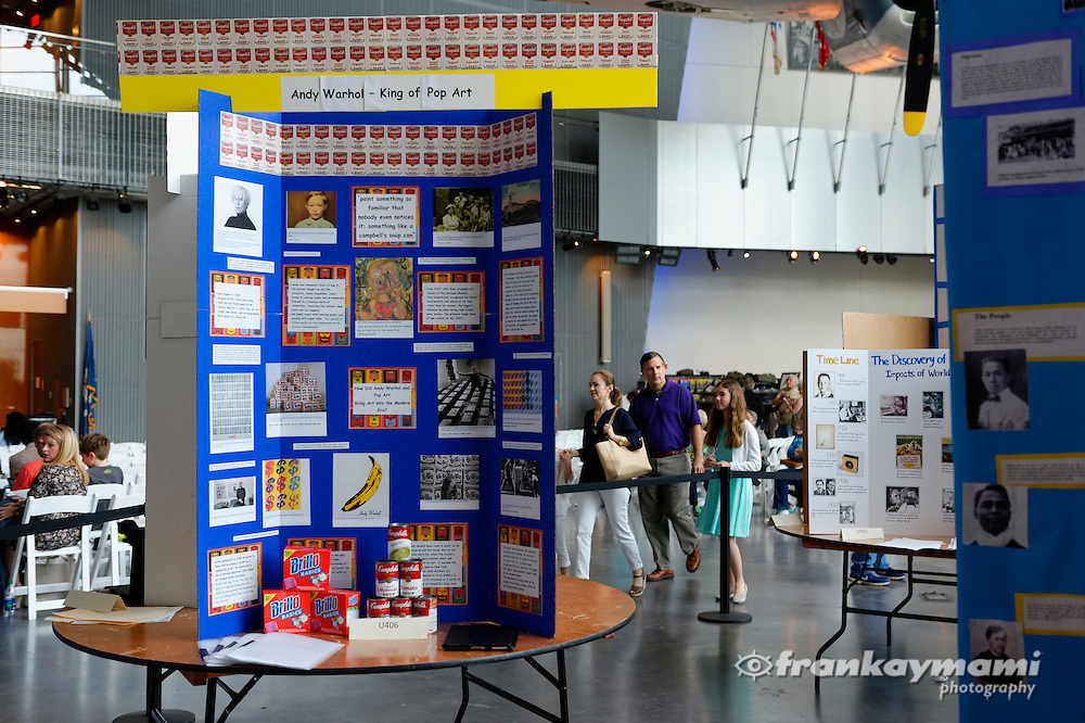 The 2016 National History Day contest at The National WWII Museum in New Orleans, LA on April 9, 2016.