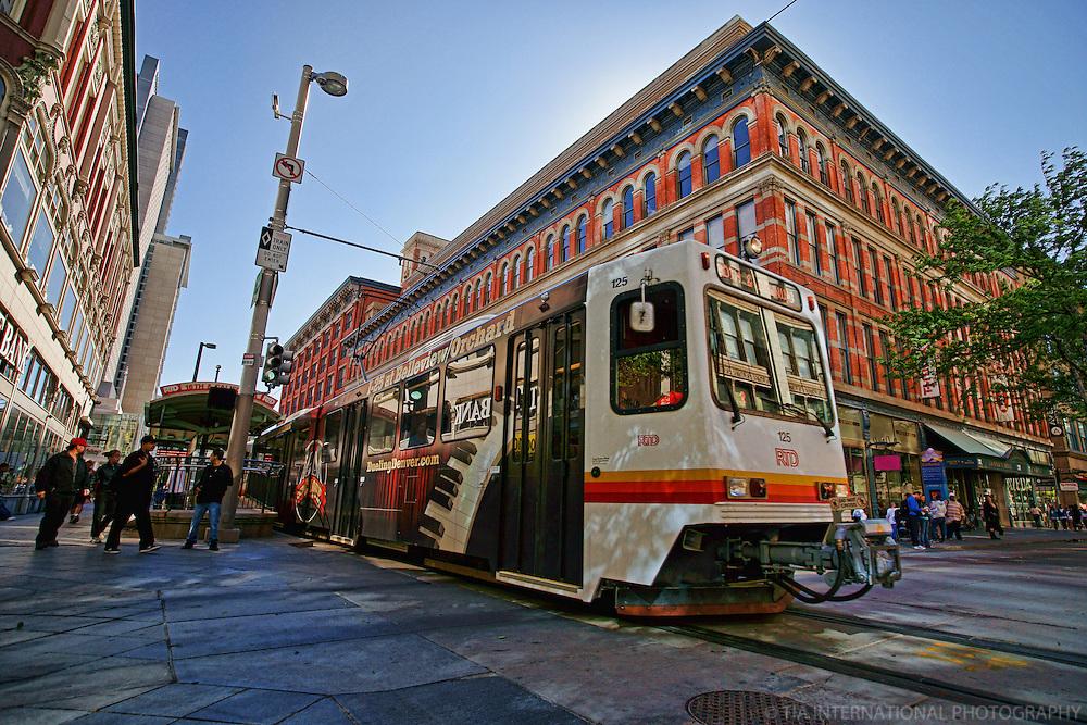 RTD Light Rail Train, Downtown Denver