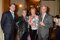 Left to right, DOMINICK FAIRBANKS, his mother DAPHNE FAIRBANKS and NEIL & CHRISTINE HAMILTON at a party to celebrate the publication of  'I Used to be in Pictures' an untold story of Hollywood by Austin Mutti-Mewse and Howard Mutti-Mewse held at The Lansdowne Club, London on 6th March 2014.