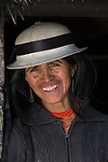 Indian woman<br /> Maria Rosa Cayambe<br /> Pulingue San Pablo community<br /> Chimborazo Province<br /> Andes<br /> ECUADOR, South America