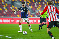 Football - 2020 /2021 Emirates FA Cup - Third Round: Brentford vs. Middlesbrough <br />  -  Brentford Community Stadium<br /> <br /> Lewis Wing (Middlesbrough) prepares to strike the ball<br /> <br /> COLORSPORT/DANIEL BEARHAM
