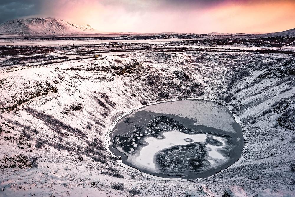 Sunrise over Keri crater