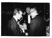 Martin Amis, Joan Juliet Buck and Dennis Hopper. Serpentine party. 1995. © Copyright Photograph by Dafydd Jones 66 Stockwell Park Rd. London SW9 0DA Tel 020 7733 0108 www.dafjones.com