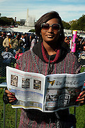 Washington, D.C-Oct 10: Model/Media Personality Toccara Jones attends the Million Man March 20th Anniversary March aka JusticeOrElse March held in Washington, D.C. on October 10, 2015.  Photo by Terrence Jennings/terrencejennings.com