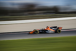 March 1, 2017 - Montmelo, Catalonia, Spain - FERNANDO ALONSO of Spain drives in his McLaren-Honda MCL32 on track during day 3 of Formula One testing at Circuit de Catalunya (Credit Image: © Matthias Oesterle via ZUMA Wire)