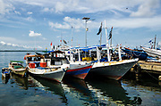 Fishing boats<br /> Sorong<br /> West Papua<br /> Indonesia