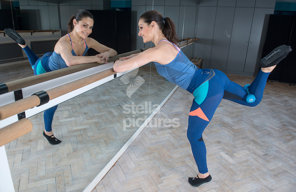 Paola Di Lanzo owner of 'Paola's BodyBarre' pictured in her Fulham studio. <br /> Picture by Daniel Hambury/Stella Pictures Ltd +44 7813 022858<br /> 05/03/2015