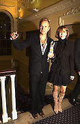 Sting and Trudie Styler, Literary Review Bad Sex in Fiction Award. In and Out Club, St. James, Sq. 3 December 2003. © Copyright Photograph by Dafydd Jones 66 Stockwell Park Rd. London SW9 0DA Tel 020 7733 0108 www.dafjones.com