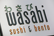 Sign for food chain Wasabi.