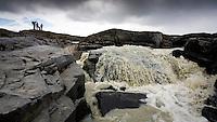 Jökulsá á Fljótsdal, Norðurdalur. Myndun Ufsalóns vegna Kárahnjúkavirkjunar hefur áhrif á vatnsmagn hennar, sérstaklega á vorin þegar rennsli í henni er minna. Glacier river Jokusla a Fljotsdal, Nordurdal.