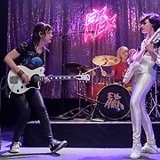 WASHINGTON, DC - May 10th, 2019 - Mary Timony, Laura Harris and Betsy Wright of Ex Hex perform at  the 9:30 Club in Washington, D.C. The band released their sophomore album, It's Real, in March. (Photo by Kyle Gustafson / For The Washington Post)