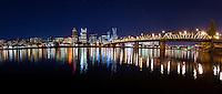 Portland Skyline, Hawthorne Bridge, and Big Dipper<br /> <br /> Shot in Portland, OR, USA