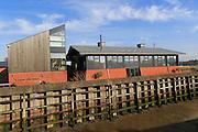Modern home architecture Lime Kiln Quay, Woodbridge, Suffolk, England, UK