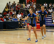 Loughborough, England - Saturday 31 July 2010: Team Sweden in action during the World Rope Skipping Championships held at Loughborough University, England. The championships run over 7 days and comprise junior categories for 12-14 year olds in the World Youth Tournament, 15-17 year olds male and female championships, and any age open championships. In the team competitions, 6 events are judged, the Single Rope Speed, Double Dutch Speed Relay, Single Rope Pair Freestyle, Single Rope Team Freestyle, Double Dutch Single Freestyle and Double Dutch Pair Freestyle. For more information check www.rs2010.org. Picture by Andrew Tobin/Picture It Now.