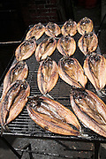 Smoked kippers from a village smokehouse, Orford, Suffolk, England