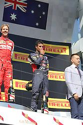 26.07.2015, Hungaroring, Budapest, HUN, FIA, Formel 1, Grand Prix von Ungarn, das Rennen, im Bild Daniel Ricciardo (Infiniti Red Bull Racing/Renault) // during the race of the Hungarian Formula One Grand Prix at the Hungaroring in Budapest, Hungary on 2015/07/26. EXPA Pictures © 2015, PhotoCredit: EXPA/ Eibner-Pressefoto/ Bermel<br /> <br /> *****ATTENTION - OUT of GER*****