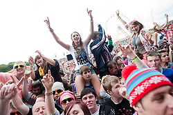 Fans of Ben Drew of Plan B on the main stage..Rockness, Saturday 12th June 2010..Pic ©2010 Michael Schofield. All Rights Reserved.