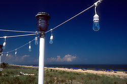 Decorative light fixtures seen Saturday, Aug. 17, 2019 at Henlopen Acres Beach Club in Rehoboth Beach, Del. (Photo by D. Ross Cameron)