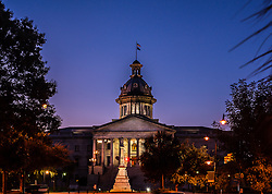 Columbia SC Statehouse at Sunset