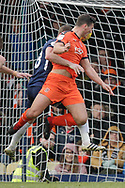 GOAL 0-1 Luton Town defender Matty Pearson (6) scores with a header during the EFL Sky Bet League 1 match between Southend United and Luton Town at Roots Hall, Southend, England on 26 January 2019.