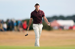 Northern Ireland's Rory McIlroy reacts after a bogey on the 16th during day three of The Open Championship 2018 at Carnoustie Golf Links, Angus.