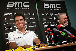 July 16, 2018 - Aix-Les-Bains, FRANCE - Belgian Greg Van Avermaet of BMC Racing pictured during a press conference during the first rest day in the 105th edition of the Tour de France cycling race, in Aix-les-Bains, France, Monday 16 July 2018. This year's Tour de France takes place from July 7th to July 29th. BELGA PHOTO DAVID STOCKMAN (Credit Image: © David Stockman/Belga via ZUMA Press)