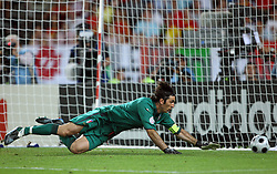 Goalkeeper of Italy Gianluigi Buffon during the UEFA EURO 2008 Quarter-Final soccer match between Spain and Italy at Ernst-Happel Stadium, on June 22,2008, in Wien, Austria.  (Photo by Vid Ponikvar / Sportal Images)