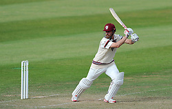 Somerset's James Hildreth drives the ball. - Photo mandatory by-line: Harry Trump/JMP - Mobile: 07966 386802 - 06/07/15 - SPORT - CRICKET - LVCC - County Championship Division One - Somerset v Sussex- Day Two - The County Ground, Taunton, England.
