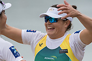 Lucerne, SWITZERLAND.<br /> <br /> AUS . W2X.  right Sally KEYHO, about to hug her silver medalist partner, Genevieve HORTON, Finals day. 2016 FISA WCII. Lake Rotsee<br /> <br /> Sunday  29/05/2016<br /> <br /> [Mandatory Credit; Peter SPURRIER/Intersport-images]