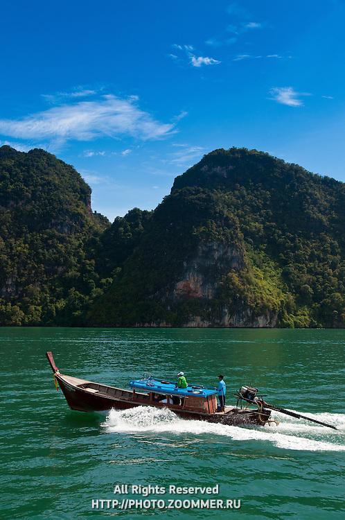 Longtail boat in Phang Nga Bay, Thailand