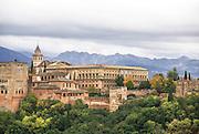 Granada, Andalucia, Spain El Albayzin (the Muslim quarter) View of the Alhambra