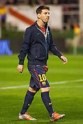 Leo Messi entering Teresa Rivero stadium