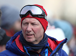 Team GB chef de mission Mike Hay watches qualification for Men's Snowboard Slopestyle the PyeongChang 2018 Winter Olympic Games in South Korea.