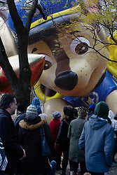 November 21, 2018 - New York City, New York, U.S - The Thanksgiving Parade Balloon Inflation event takes place between 77th St. and 81st St. at the Columbus Ave. entrry point. The balloon, PAW Patrol, ''patrols'' over New Yorkers. (Credit Image: © Serena S.Y. Hsu/ZUMA Wire)