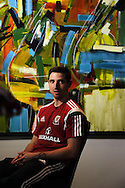 Joe Allen of Wales  during the Wales football player media session at the St.Davids Hotel in Cardiff Bay , South Wales on Thursday 14th November 2013. pic by Andrew Orchard, Andrew Orchard sports photography,