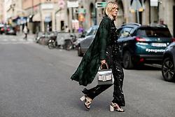 Street style, Laura Tonder arriving at Greta Gram Spring Summer 2017 show held at Stockholms Auktionsverk, Nybrogatan 32, in Stockholm, Sweden, on August 30th, 2016. Photo by Marie-Paola Bertrand-Hillion/ABACAPRESS.COM