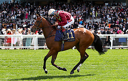 Kurious ridden by jockey Fran Berry goes to post for the Queen Mary Stakes