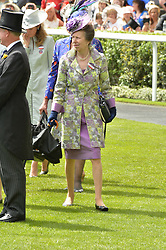 HRH The PRINCESS ROYAL at day two of the Royal Ascot 2016 Racing Festival at Ascot Racecourse, Berkshire on 15th June 2016.