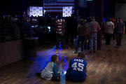 Supporters look on as presidential candidate Sen. Ted Cruz speaks during a campaign rally on February 28, 2016 in Oklahoma City, Oklahoma.  (Cooper Neill for The New York Times)