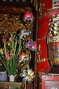 Vietnam, Lao Cai, Temple interior