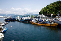 Ujina Port Hiroshima - The Inland Sea is the body of water separating Honshu Shikoku, and Kyushu, three of the main islands of Japan.  Almost 3000 islands are located in the Inland Sea, including the larger islands Awajishima and Shodoshima. Many of the smaller islands are uninhabited.