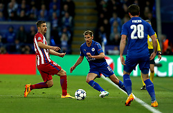 Marc Albrighton of Leicester City passes the ball - Mandatory by-line: Robbie Stephenson/JMP - 18/04/2017 - FOOTBALL - King Power Stadium - Leicester, England - Leicester City v Atletico Madrid - UEFA Champions League Quarter-Final Second Leg