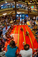 Jack-Jack's Incredible Diaper Dash, in the lobby atrium on the new Disney Dream cruise ship sailing between Florida and the Bahamas.