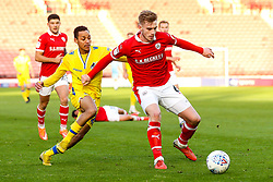 Liam Lindsay of Barnsley takes on Kyle Bennett of Bristol Rovers - Mandatory by-line: Robbie Stephenson/JMP - 27/10/2018 - FOOTBALL - Oakwell Stadium - Barnsley, England - Barnsley v Bristol Rovers - Sky Bet League One