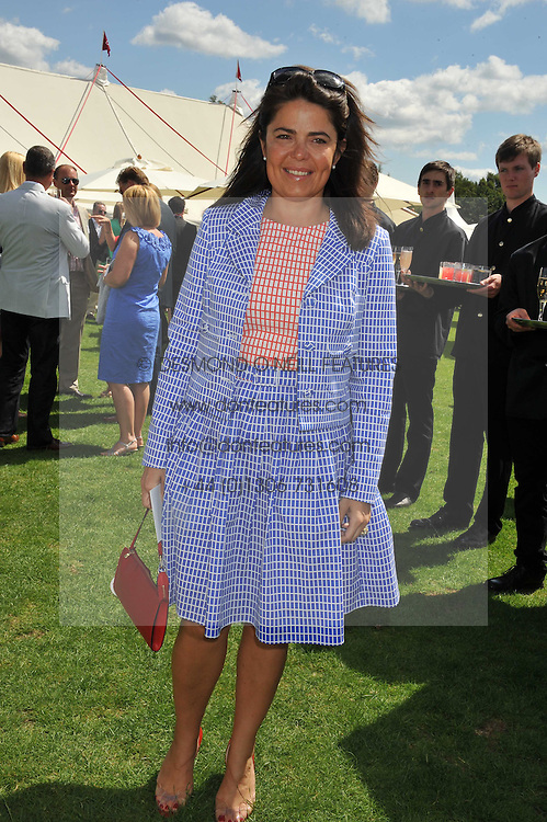 DANIELLA HELAYEL at the 27th annual Cartier International Polo Day featuring the 100th Coronation Cup between England and Brazil held at Guards Polo Club, Windsor Great Park, Berkshire on 24th July 2011.