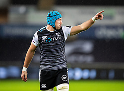 Justin Tipuric of Ospreys<br /> <br /> Photographer Simon King/Replay Images<br /> <br /> Guinness PRO14 Round 8 - Ospreys v Cardiff Blues - Saturday 21st December 2019 - Liberty Stadium - Swansea<br /> <br /> World Copyright © Replay Images . All rights reserved. info@replayimages.co.uk - http://replayimages.co.uk